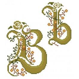 W 4477-02 Předloha online - Monogram B - B. Sikora-Malyjurek