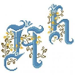 Předloha online - Monogram H - B. Sikora-Malyjurek