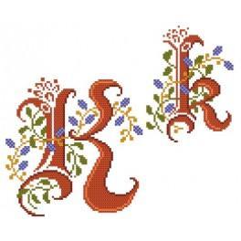 Předloha online - Monogram K - B. Sikora-Malyjurek