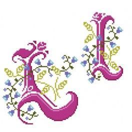 Předloha online - Monogram L - B. Sikora-Malyjurek
