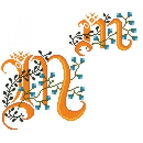 W 4477-14 Předloha online - Monogram M - B. Sikora-Malyjurek