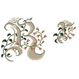 Předloha online - Monogram R - B. Sikora-Malyjurek