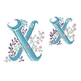 Předloha online - Monogram X - B. Sikora-Malyjurek