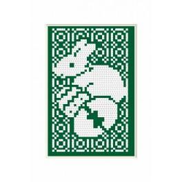 Předloha online - Velikonoční přání – Zajíček - B. Sikora