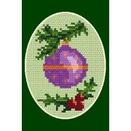 Předloha online - Vánoční přání- Vánoční koule