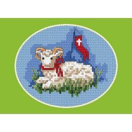 Předloha online - Velikonoční karta - Beránek