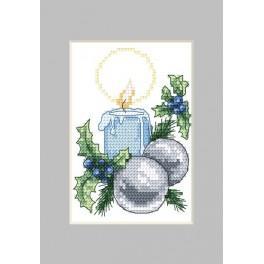 Předloha online - Vánoční přání-Svíčka