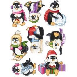 Předloha online - Veselí tučňáci