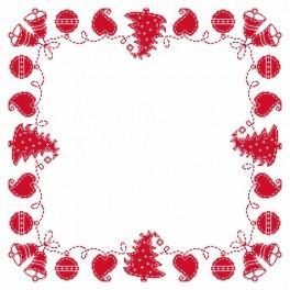 Předloha online - Ubrousek - vánoční výšivka