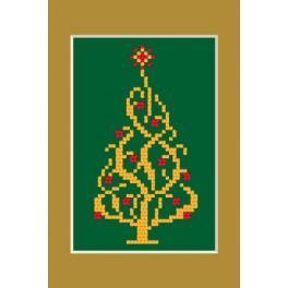 Předloha online - Vánoční přání - Zářící vánoční stromeček
