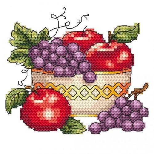 W 4964 Předloha online - Mísa s jablky