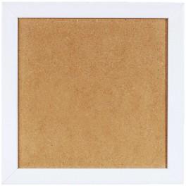 Dřevěný rámeček - barva bílá (21x21cm)