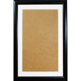 Dřevěný rámeček - barva černá - paspartou bílé (32,6x52,1cm)