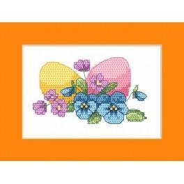 W 8625-02 Předloha ONLINE pdf - Velikonoční přání - Velikonoční vejce
