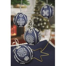 Předloha on line - Vánoční koule se sněhovými vločkami