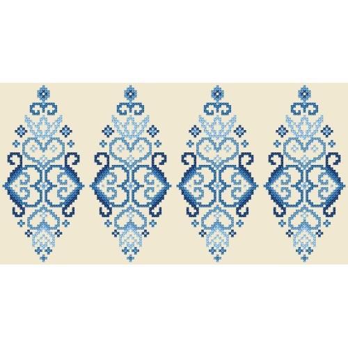 W 8833 Předloha on line - Kraslice - modrá arabeska