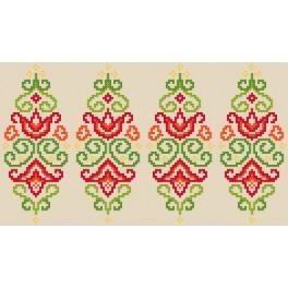 Předloha on line - Kraslice - barevná arabeska
