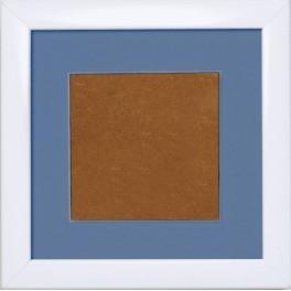Dřevěný rámeček - barva bílá - paspartou levandulová (13,2x13,2cm)