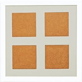 Ramka drewniana - kolor biały - jasnoszare psp