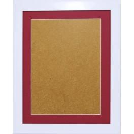 Dřevěný rámeček - barva bílá - paspartou vřes (24x31cm)