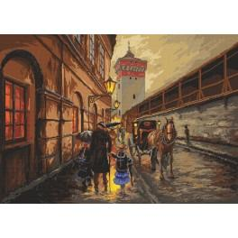 Krakov v dešti - Předloha