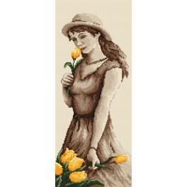 GC 4595 Dívka s tulipány - Předloha