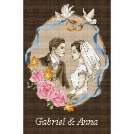 GC 4856 Památka na svatbu - Mladý pár - Předloha