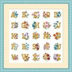 GC 4978 Abeceda s květinami - Předloha