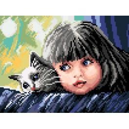 GC 7140 Holčička s kočičkou - Předloha