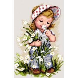 GC 7165 Holčička s květinami - Předloha