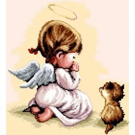 GC 7177 Modlitba - Holčička s kočičkou - Předloha