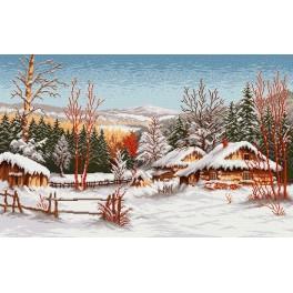 Chaty v zimě - Předloha