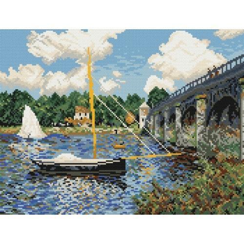 GC 800 Claude Monet - Silniční most v Argenteuil - Předloha