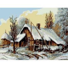 Chata v zimě - Předloha