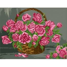 Koš s růžemi - Předloha
