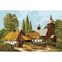 Chaty na podzim - Předloha