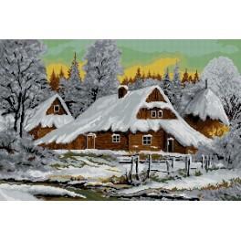 Zimní krajinka - Předloha