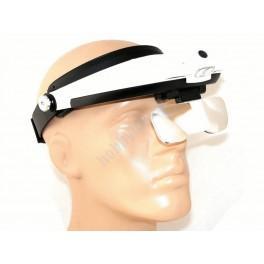 Lupa-brýle s lampičkou LED