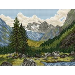 Horské údolí - Předtištěná kanava