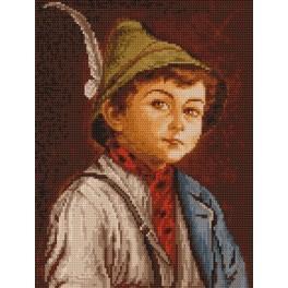 Chlapec v tyrolském klobouku - Předtištěná kanava