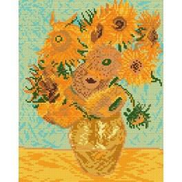 V. van Gogh - Slunečnice - Předtištěná aida