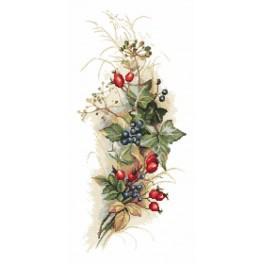 Předtištěná aida - Podzimní kytice