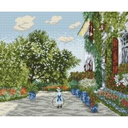 Dom umělce v Argenteuil - Claude Monet - Předtištěná aida