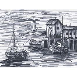 Rybářské lodě - Předtištěná aida