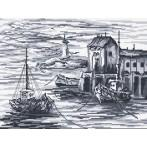 AN 33102 Rybářské lodě - Předtištěná aida
