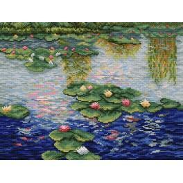 C.Monet - Lekníny - Předtištěná aida
