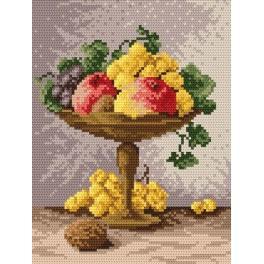 Mísa s ovocem - Předtištěná aida