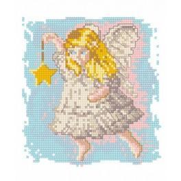 Anděl s hvězdičkou - Předtištěná aida
