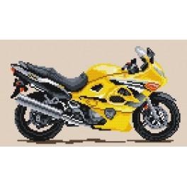 Motocykly – zlatý vítr - Předtištěná aida