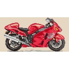 Motocykly – Ohnivé tornádo - Předtištěná aida